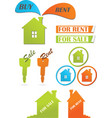 icons and stickers for real estate vector image vector image