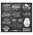 Easter Typographical Design Elements vector image