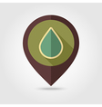 Water Rain Drop retro flat pin map icon Weather vector image