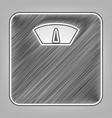 bathroom scale sign pencil sketch vector image