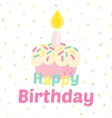 Birthday cupcake attributes icons vector image