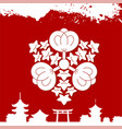japanese culture symbolic ornaments vector image