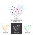 Modern set icon heart Heart logo template vector image