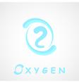 Oxygen logo o2 shape vector image