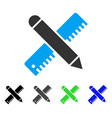 ruler and pencil design tools flat icon vector image