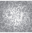 Silver floral seamless vector image