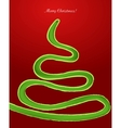 Snake in the form of a Christmas tree vector image