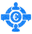 euro social network icon grunge watermark vector image