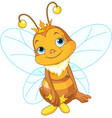 cute queen bee vector image vector image
