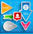 arrows and bubbles signs set vector image