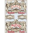 Vintage Graphic Element for Italian Pasta Menu vector image