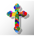 Colorful cross vector image