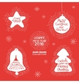 Happy New Year hand lettering Set vector image vector image