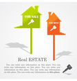 signboards of homes sale and rent vector image vector image