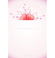 abstract valentines day card vector image vector image