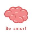 brain smart logo symbol education scientific idea vector image