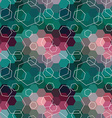 Geometric seamless hexagon abstract background vector image