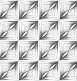 Gray striped triangular shapes with thickening in vector image