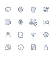 outline icons for web and mobile editable vector image