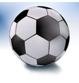 single soccer ball on white and sky eps 8 vector image