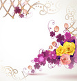 Abstract background with clover and rose vector image vector image