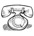 doodle phone retro vector image