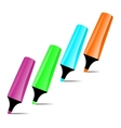 Ilustrated marker set vector image