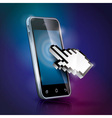 with shiny touchscreen mobilephone vector image vector image