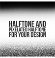 Halftone anf pixelated halftone for your design vector image