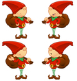 Red Elf Holding A Sack vector image