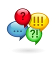 Ellipsis exclamation question marks vector image