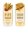 Tobacco Banners Set vector image