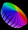 colorful graphic equalizer vector image vector image
