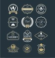 restaurant retro vintage logo vector image vector image