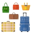 Bags set vector image