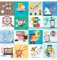 Sixteen business concept vector image