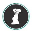 Chef computer symbol vector image