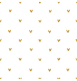 Golden glitter hearts pattern vector image