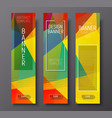 Design vertical banners with polygonal vector image