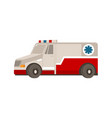 flat cartoon emergency ambulance car vector image