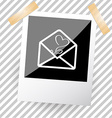 mail with tulip vector image