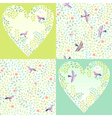 Pattern birds set vector image