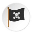 pirate flag icon circle vector image