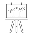 Progression bar on presentation screen icon vector image