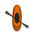 row boat or kayak icon image vector image