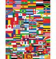 World flags background vector image
