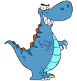 Angry Blue Dinosaur vector image vector image