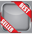 Blank app icon with best seller ribbon vector image