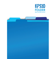 blue folders vector image vector image