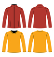 Jacket and Long-sleeved T-shirt vector image